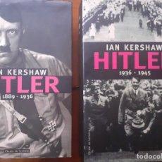 Libros: HITLER 1889-1936 RAICES ASCENSION ICONOMALIGNO 1936-1945 CULTO FÜHRER GENOCIDIO GUERRA. Lote 207660435