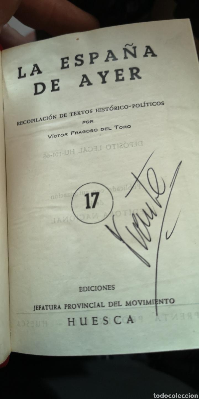 Libros: Libro la España de ayer Guerra Civil Española editorial jefatura provincial del Movimiento - Foto 2 - 210401570