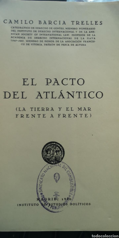 Libros: Libro impacto del Atlántico Camilo García Trelles, falta la tapa trasera - Foto 4 - 210403871