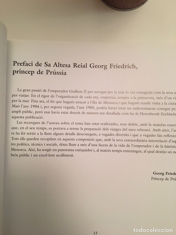 Libros: LEMPERADOR GUILLEM II A MENORCA - MARIA HERRNBRODT-FECHELM - Foto 2 - 221429523