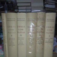 Libros: FRANCISCO HERNÁNDEZ DE TOLEDO.OBRAS COMPLETAS(5 TOMOS).UNIVERSIDAD NACIONAL AUTÓNOMA DE MEXICO. Lote 221518780