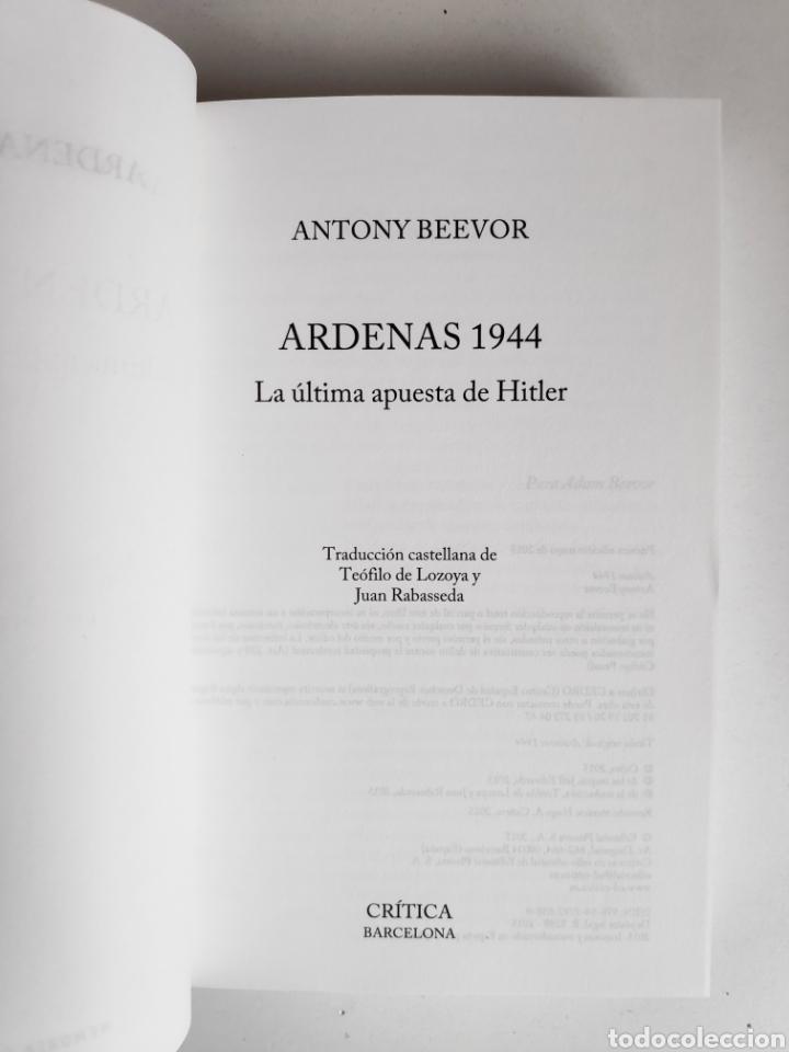 Libros: Libro. Antony Beevor, Ardenas 1944 - Foto 3 - 221782188