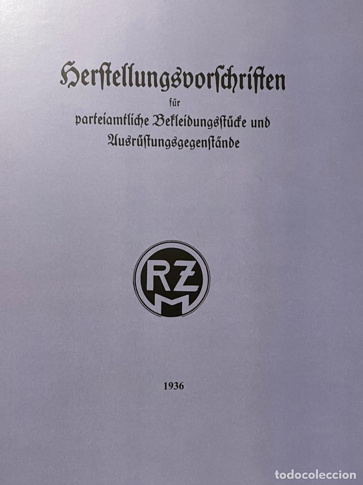LIBRO REQUISITOS DE PRODUCCIÓN DE RZM PARA UNIFORMES Y EQUIPOS 1936, NAZI HITLER TERCER REICH (Libros Nuevos - Historia - Historia Moderna)
