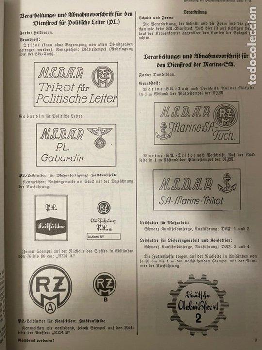 Libros: Libro Requisitos de producción de RZM para uniformes y equipos 1936, nazi hitler tercer reich - Foto 14 - 227762160