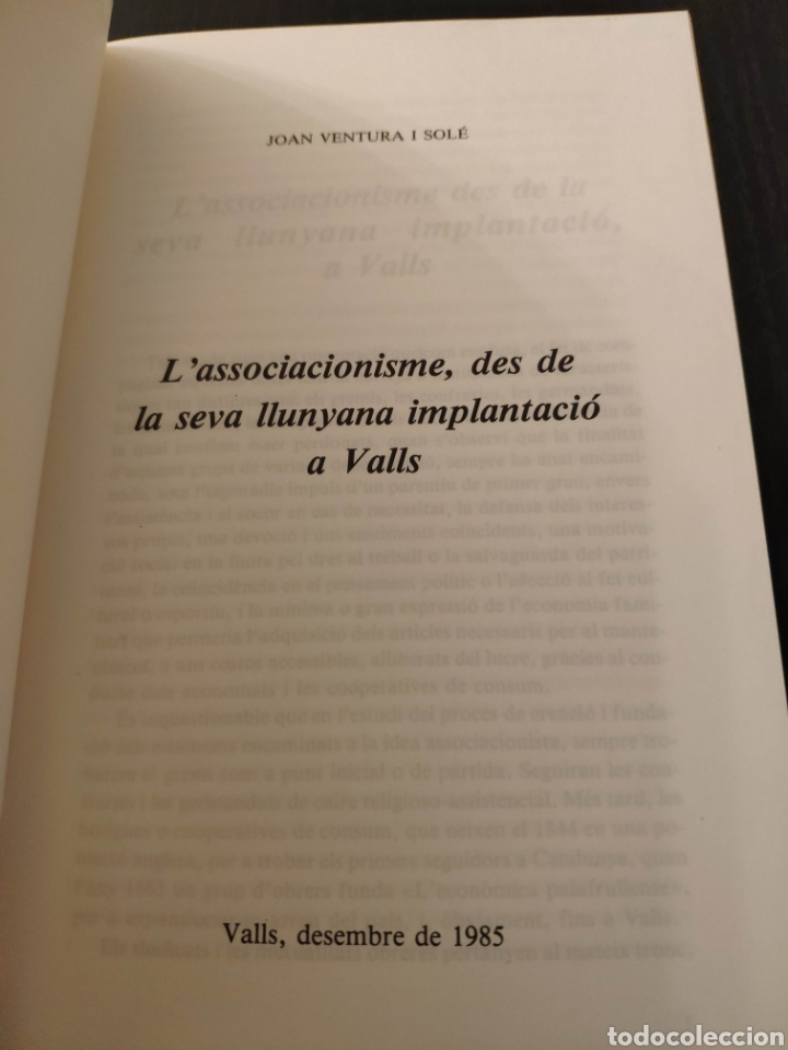 Libros: Lassociacionisme, des de la seva llunyana implantació a Valls - Joan Ventura i Solé - Foto 4 - 233717475