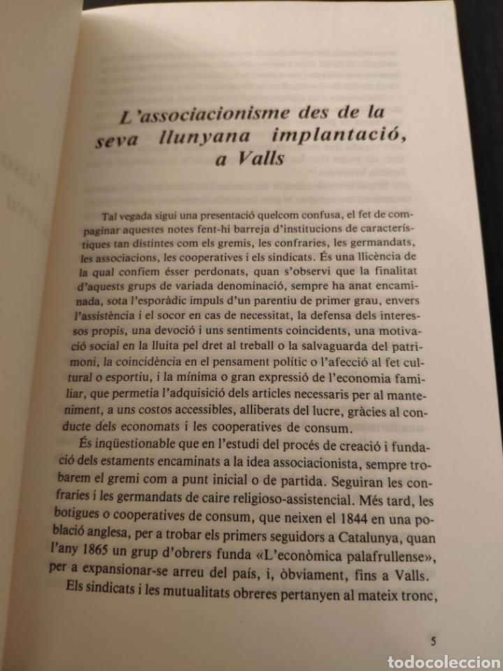 Libros: Lassociacionisme, des de la seva llunyana implantació a Valls - Joan Ventura i Solé - Foto 5 - 233717475