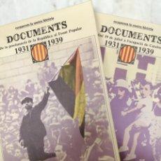 Libros: CATALUNYA 1931-1939 - DOCUMENTS-RECUPEREM LA NOSTRE HISTORIA. Lote 234566235