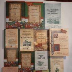 Libros: 13 FACSÍMILES RELATIVOS A LA HISTORIA DE MADRID. BARRIOS CALLES PLANO VILLA CORTE COCINA MADRILEÑA. Lote 235590555
