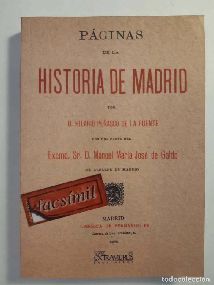 Libros: 13 facsímiles relativos a la historia de MADRID. Barrios Calles Plano Villa Corte Cocina madrileña - Foto 5 - 235590555