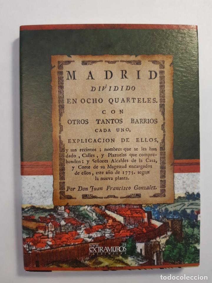 Libros: 13 facsímiles relativos a la historia de MADRID. Barrios Calles Plano Villa Corte Cocina madrileña - Foto 8 - 235590555