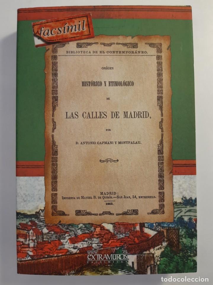 Libros: 13 facsímiles relativos a la historia de MADRID. Barrios Calles Plano Villa Corte Cocina madrileña - Foto 9 - 235590555