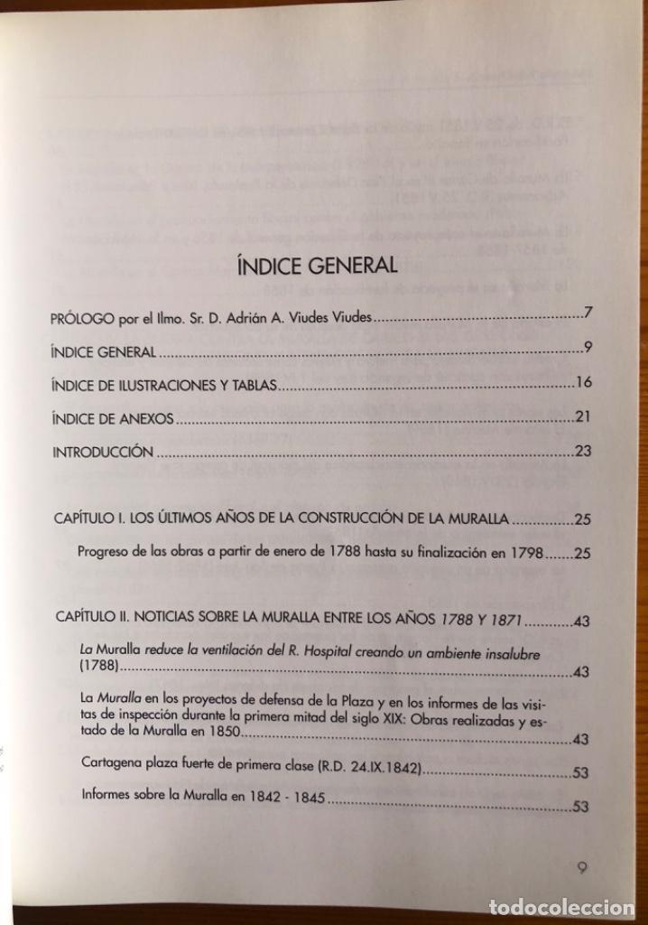 Libros: CARTAGENA- LA MURALLA DE CARLOS III- JOSE MARIA RUBIO PAREDES- 2001 - Foto 3 - 239646295