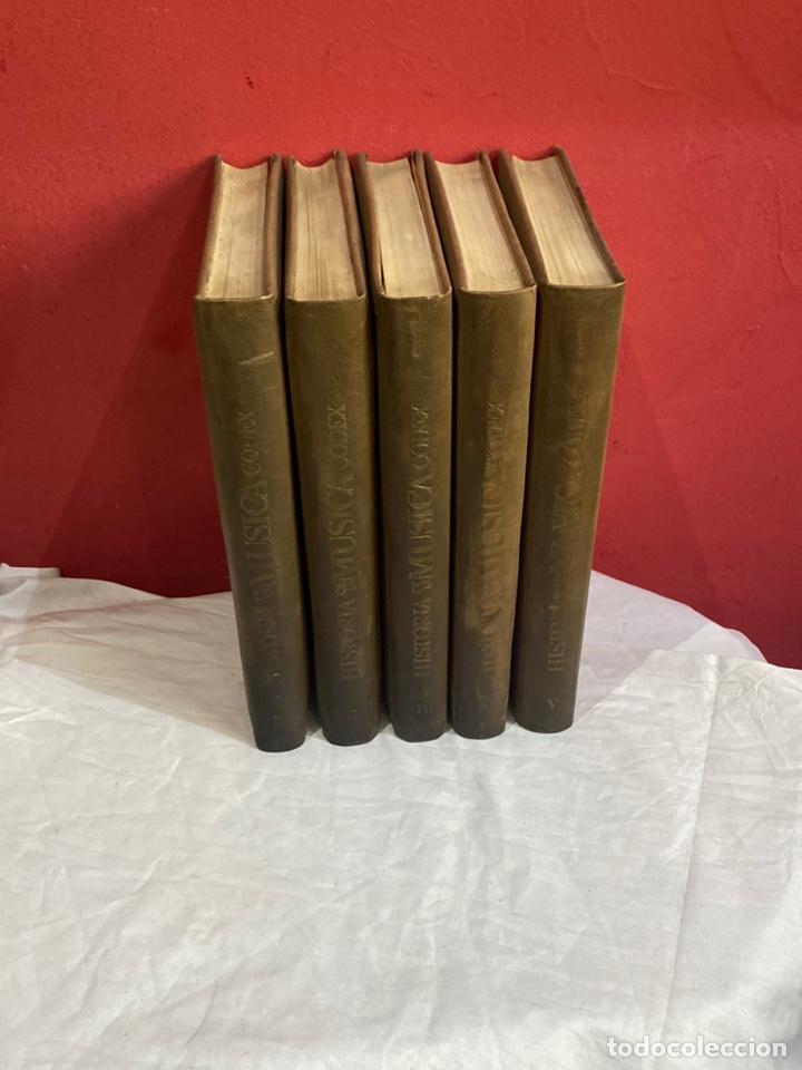 HISTORIA DE LA MUSICA COLECCION COMPLETA EDITORIAL CODEX MADRID 1967 5 TOMOS (Libros Nuevos - Historia - Historia Moderna)