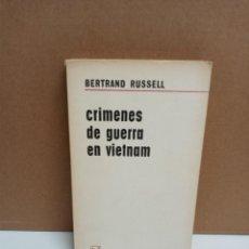 Libros: BERTRAND RUSSELL - CRÍMENES DE GUERRA EN VIETNAM - AGUILAR. Lote 262593810