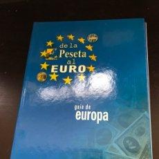 Libros: DE LA PESETA AL EURO: GUÍA DE EUROPA+HISTORIA DE LA MONEDA Y DEL DINERO. Lote 276267648