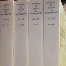 Libros: CONGRESO DE HISTORIA DEL DESCUBRIMIENTO (1492-1556). ACTAS. RA HISTORIA. 1992. NUEVOS IMPECABLES.. Lote 276706793