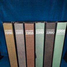 Libros: LOTE DE 6 ANUARIOS 1986, 1987,1988,1989,1990,1991. DIFUSORA INTERNACIONAL.. Lote 283346488