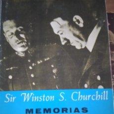 Libros: SIR WINSTON CHURCHILL: MEMORIAS. Lote 284576333