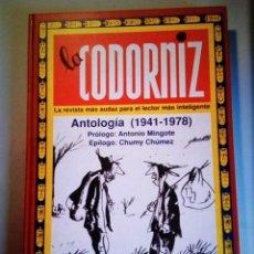 Libros: LA CODORNIZ ANTOLOGÍA (1941-1978) EN PERFECTO ESTADO, NUNCA USADO.. Lote 288577703