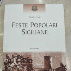 Libros: FIESTA SICILIANA (PITRÉ). Lote 295926308