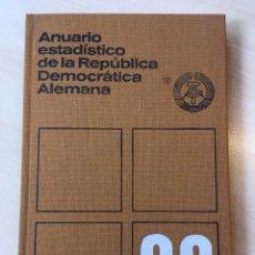 Libros: ANUARIO ESTADÍSTICO DE LA REPÚBLICA DEMOCRÁTICA ALEMANA 1988 RDA COMUNISMO DDR. Lote 156952014
