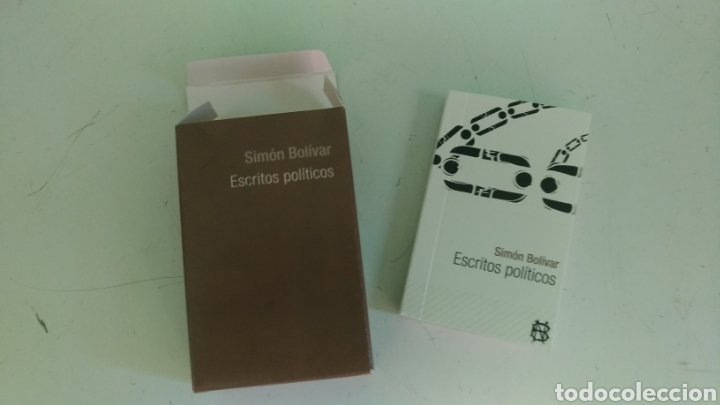 Libros: Mini libro ESCRITOS POLÍTICOS, por Simón Bolívar ( 9 x 6 cm) - Foto 2 - 157950961