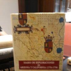 Libros: DIARIO DE EXPLORACIONES EN ARIZONA Y CALIFORNIA(1775-1776). Lote 169088556