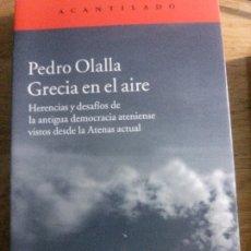 Libros: GRACIA EN EL AIRE, PEDRO OLALLA, ACANTILADO EDITORIAL.. Lote 178716210