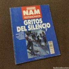 Libros: DOSSIER NAM TESTIMONIOS - GRITOS DEL SILENCIO, PLANETA DE AGOSTINI, 1988. Lote 208391188