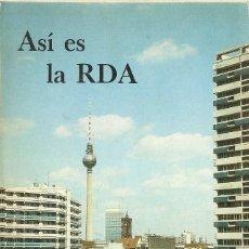 Libros: ASÍ ES LA RDA (1986). Lote 208661897