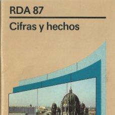 Libros: RDA 87: CIFRAS Y HECHOS. Lote 208662097
