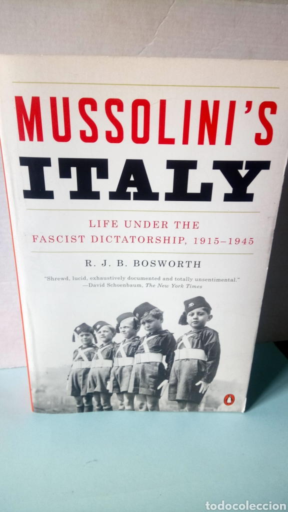 LIBRO MUSSOLINI 'S ITALY. R. J. B. BOSWORTH. EDITORIAL PENGUIN BOOKS. AÑO 2005. (Libros Nuevos - Historia - Historia por países)