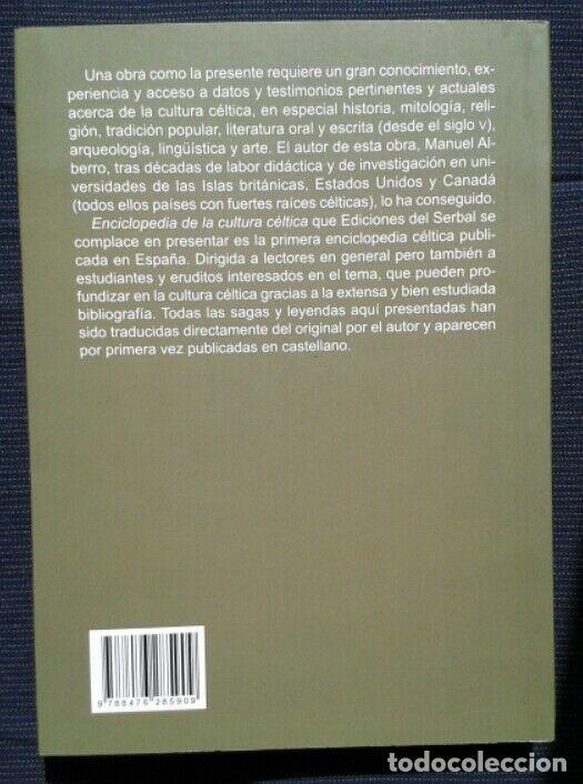 """Libros: MANUEL ALBERRO: """"ENCICLOPEDIA DE LA CULTURA CÉLTICA"""". ED.SERBAL 2010 - Foto 2 - 269115568"""