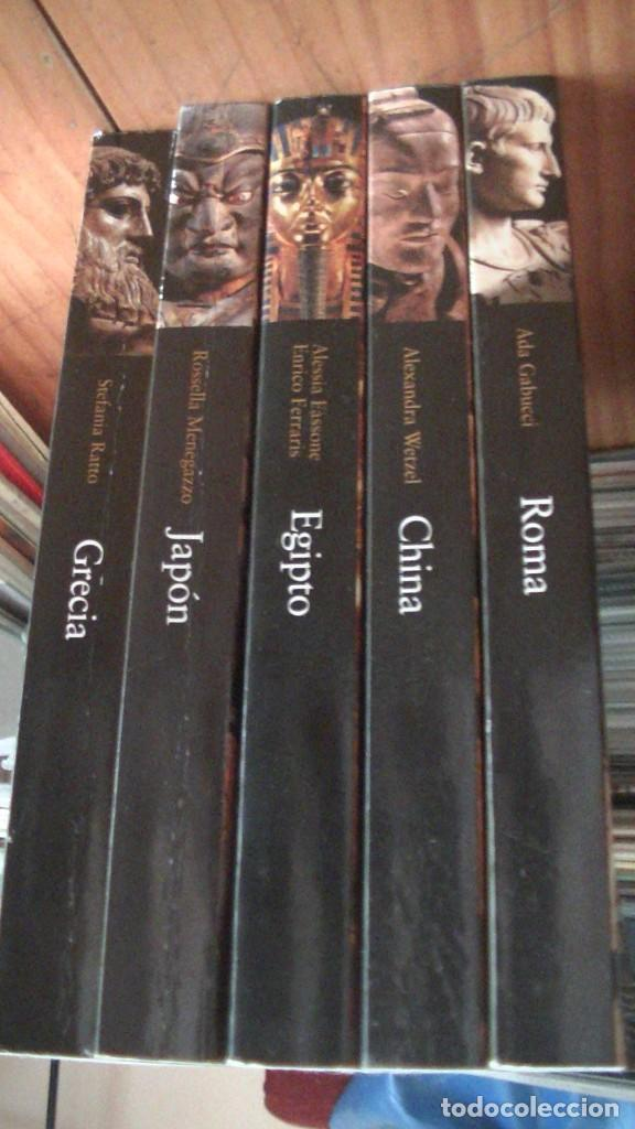 GRANDES CIVILIZACIONES. LOTE 5 LIBROS: GRECIA-ROMA-EGIPTO-JAPON-CHINA. MONDADORI. 2008 (Libros Nuevos - Historia - Historia por países)