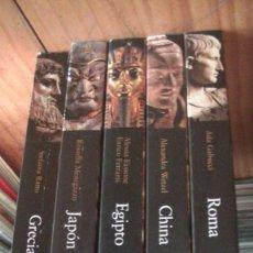 Libros: GRANDES CIVILIZACIONES. LOTE 5 LIBROS: GRECIA-ROMA-EGIPTO-JAPON-CHINA. MONDADORI. 2008. Lote 269313498