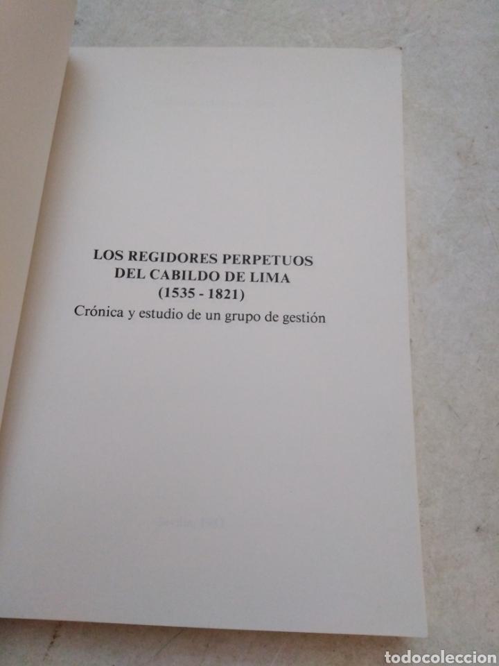 Libros: V centenario del descubrimiento de América ( I y II ) Los regidores perpetuos del cabildo de lima - Foto 3 - 270396433