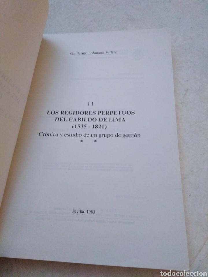 Libros: V centenario del descubrimiento de América ( I y II ) Los regidores perpetuos del cabildo de lima - Foto 5 - 270396433