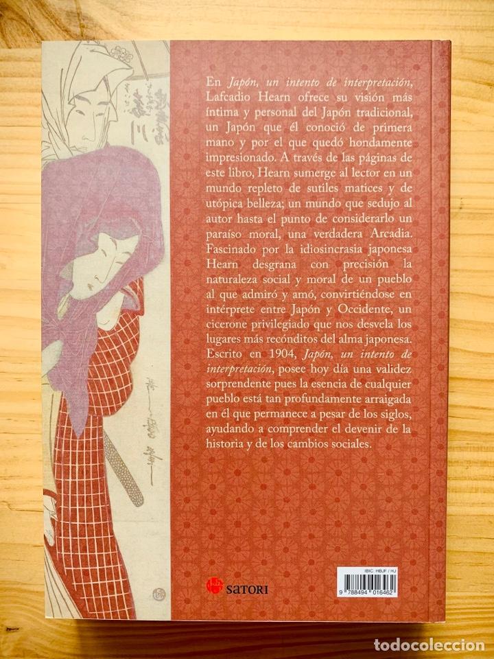 Libros: Japón, Un Intento De Interpretación (1º Edición) Editorial Satori - Foto 2 - 287094603