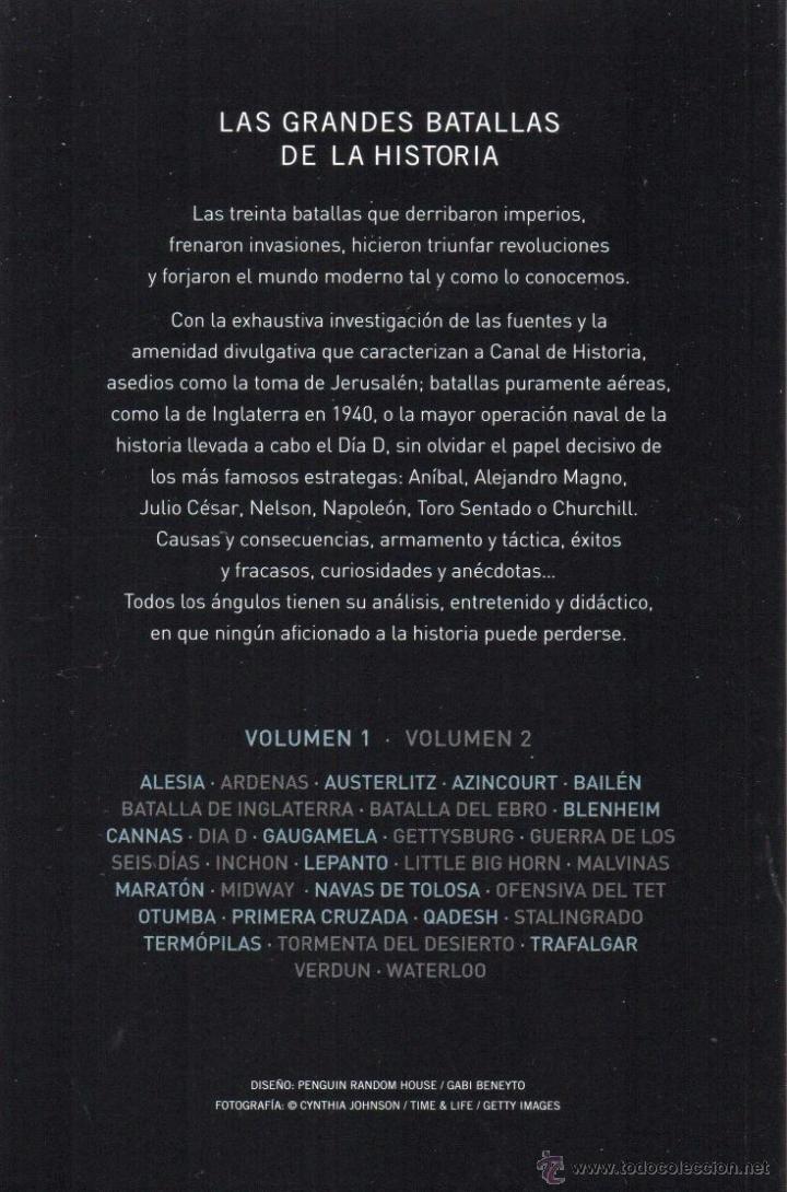 Libros: LAS GRANDES BATALLAS DE LA HISTORIA VOL. 1 - PENGUIN RANDOM HOUSE, 2014 - Foto 2 - 213277712
