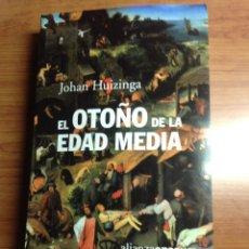 Libros: EL OTOÑO DE LA EDAD MEDIA. Lote 85092616