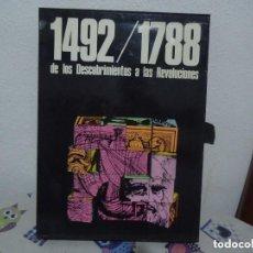 Libros: 1492-1798. DE LOS DESCUBRIMIENTOS A LAS REVOLUCIONES.. Lote 104912939