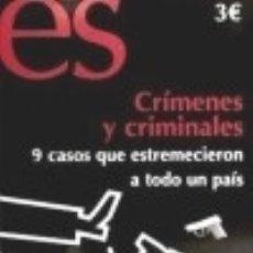 Libros: CRÍMENES Y CRIMINALES : 9 CASOS QUE ESTREMECIERON A TODO UN PAÍS. Lote 131595213
