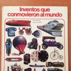 Libros: INVENTOS QUE CONMOVIERON AL MUNDO, VICENTE SEGRELLES, ANTONIO CUNILLERA, ENCICLOPEDIA JUVENIL AURIGA. Lote 134971709