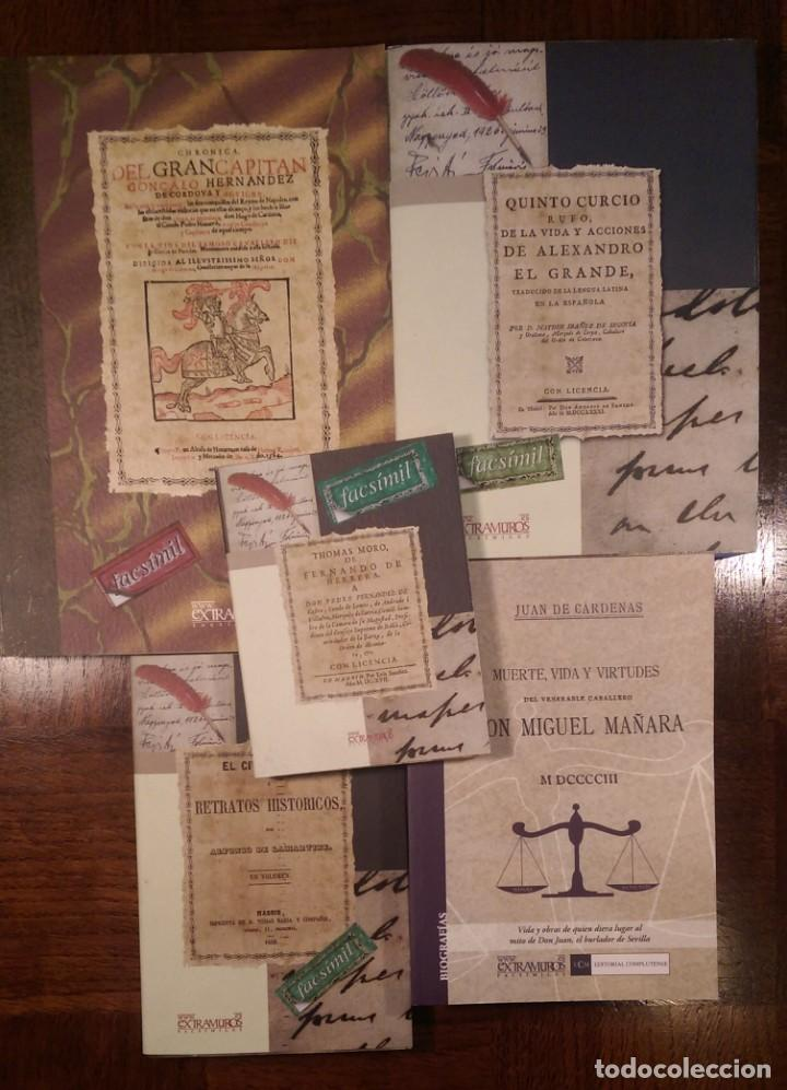 5 LIBROS FACSÍMILES RELATIVOS A LA HISTORIA. GRAN CAPITÁN ALEJANDRO MAGNO MIGUEL DE MAÑARA (Libros Nuevos - Historia - Historia Universal)
