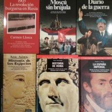 Libros: 6 LIBROS DE HISTORIA. Lote 153817397