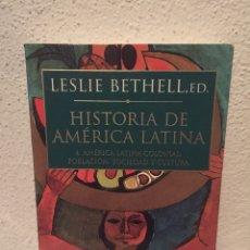 Libros: LIBRO HISTORIA AMERICA LATINA COLONIAL 4 POBLACIÓN, SOCIEDAD Y CULTURA - EDITORIAL CRÍTICA- BETHELL. Lote 173455435