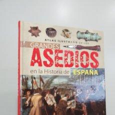 Libros: ATLAS ILUSTRADO DE LOS GRANDES ASEDIOS EN LA HISTORIA DE ESPAÑA. Lote 181353072