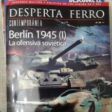Libros: DOS O MAS REVISTAS, ENVÍO GRATIS. DESPERTA FERRO CONTEMP.38. BERLÍN 1945 (I) LA OFENSIVA SOVIÉTICA. Lote 276155423