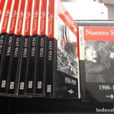 Libros: COLECCIÓN COMPLETA NUESTRO SIGLO DE 10 LIBROS. Lote 204456046