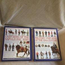 Libros: LOTE DOS LIBROS UNIFORMES MILITARES DE 1700-1800!. Lote 205593408